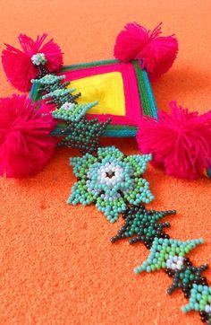 Mexican Jewelry, Beaded Jewellery, Flower Bracelet, Shakira, Symbols, Inspire, Craft Ideas, Beads, Bracelets