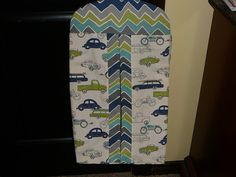 A personal favorite from my Etsy shop https://www.etsy.com/listing/231460599/diaper-stacker-in-retro-ridessee-saw