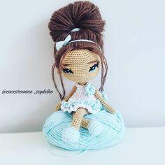 The Most Beautiful Amigurumi Doll Free Crochet Patterns – Free Amigurumi Crochet Crochet Amigurumi Free Patterns, Crochet Toys, Amigurumi Tutorial, Yarn Dolls, Knitted Dolls, Quick Crochet, Cute Crochet, Plush Pattern, Crochet Doll Clothes