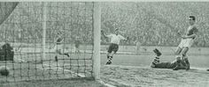 Chelsea 3 Preston NE 1 in March 1959 at Stamford Bridge. Jimmy Greaves scores his 2nd goal of the game #Div1