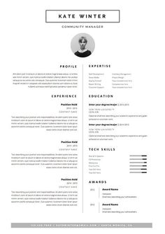 Resume Templates Minimalist Resume Template & Cover Letter Icon Set for Cover Letter Template, Cv Template, Resume Templates, Resume Design Template, Microsoft Word, Resume Layout, Resume Tips, Resume Ideas, Resume Examples