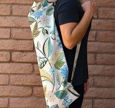 Handmade Yoga Mat Bag Tropical floral print by ChellaBellaDesigns, $22.00