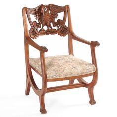PERIOD SWAN CARVED CHAIR  furniture and swans  Pinterest  Chairs ...
