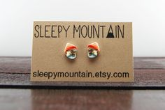 Steve Zissou Stud Earrings Wes Anderson Bill by SleepyMountain