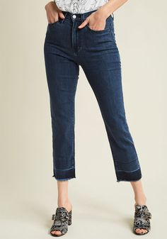 ModCloth - cropped, two toned jeans