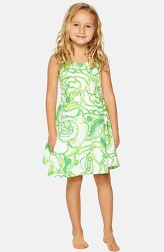 Lilly Pulitzer® 'Kaya' Floral Print Sleeveless Dress (Little Girls & Big Girls) available at #Nordstrom