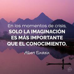 ❝ #FRASES - En los momentos de crisis sólo la imaginación es más importante que... ❞ ↪ Vía: proZesa