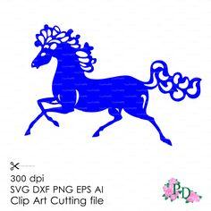 Horse svg dxf ai eps png Christmas Xmas Noel от EasyCutPrintPD