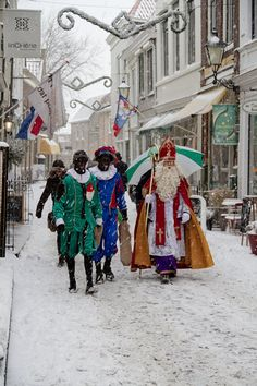 Sinterklaas (or more formally Sint Nicolaas) is a traditional winter holiday figure still celebrated today in the Netherlands.