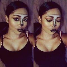 Egyptian cat goddess halloween makeup look