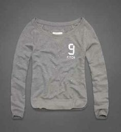 Abercrombie & Fitch Hollister A&F Womans Natalie Sweatshirt Gray Size Large