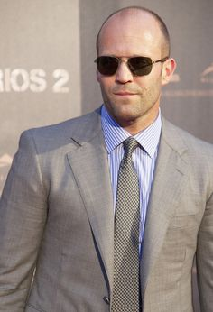 Jason Statham: Suit and shades.