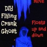 Make a realistic floating spirit for Halloween with a Flying Crank Ghost Diy Halloween Ghosts, Halloween Projects, Fall Halloween, Halloween Decorations, Halloween Ideas, Scarecrow Mask, Spirit, Fictional Characters, Grandkids
