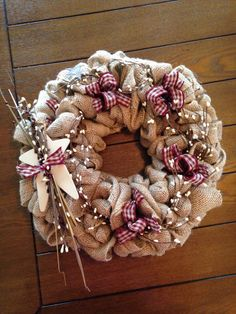 Hey, I found this really awesome Etsy listing at https://www.etsy.com/listing/199443866/rustic-burlap-wreath-primitive-burlap