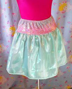 Iridescent tutu mint green blue skirt hologram by missalphabet