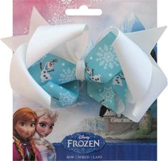 SIMPLICITY 570500001 Disney Frozen OLAF Ribbon Bow – White/Blue #SimplicityCreativeGroup