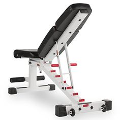 combo offer xmark fitness adjustable dumbbell weight bench xm 7630 white with pair of 50 lb. Adjustable Workout Bench, Adjustable Weight Bench, Adjustable Dumbbells, Homemade Gym Equipment, Diy Gym Equipment, No Equipment Workout, Home Made Gym, Diy Home Gym, Home Gym Garage