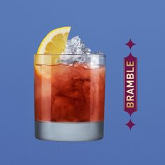 To make a Bramble cocktail, pour Chambord, gin and fresh lemon juice into a short glass over crushed ice with a wedge of lemon to garnish.