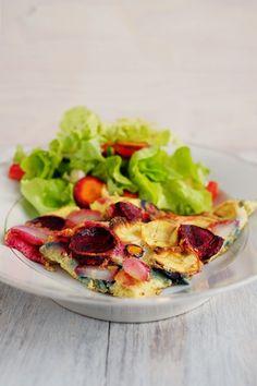 becoming green: Die Mädchenküche kocht #8: Wurzelgemüse-Omelette Omelette, Omelet, Frittata, Scrambled Eggs