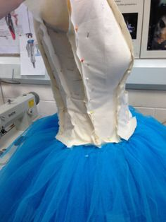 Draping on mannequin, bodice of ballet costume.