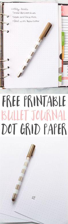 Bullet Journal Ideas | Bullet Journaling | Bullet Journal Printables | Bullet Journal Layout | Planner Ideas | Dot Grid Paper Printable via @frugalitygal