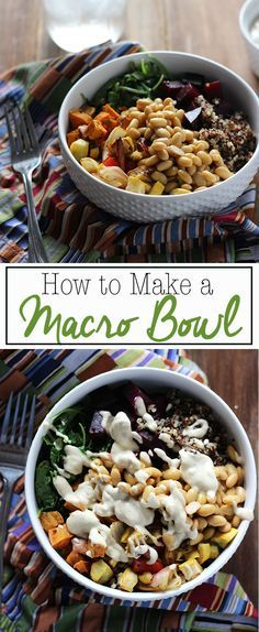 Great for an easy dinner with endless combinations! How to Make a Macro Bowl   Dietitian Debbie