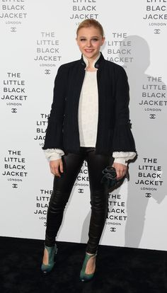 Chloe Moretz at Chanel The Little Black Jacket private view in London.