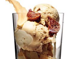 Coffee-Cardamom Ice Cream With Figs | Easy Ice Cream Recipes