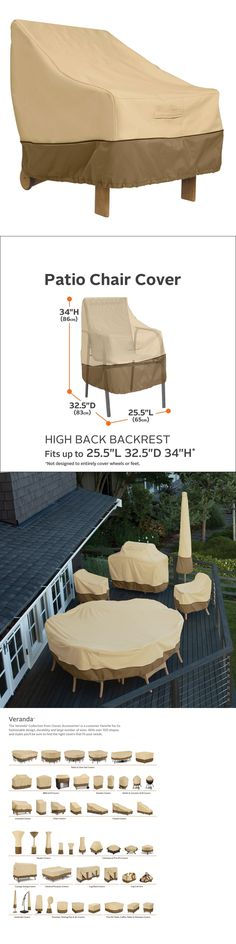 Outdoor Furniture Covers 177031: Classic Accessories Veranda High Back  Patio Chair Cover  U003e BUY