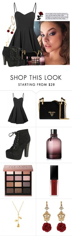 """""""— THERE'S GLITTER ON THE FLOOR AFTER THE PARTY —"""" by haunted-idiots ❤ liked on Polyvore featuring Glamorous, Prada, Breckelle's, Bottega Veneta, Bobbi Brown Cosmetics, Smashbox, Dolce&Gabbana and Suzanne Kalan"""