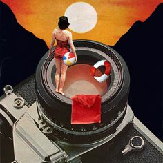 Eugenia Loli originated in the technology sector, but she left that impersonal world behind in order to build new, exciting worlds via her art. Her collages, with the help of the title, often include a teasing, visual narrative, as if they're a still frame of a surreal movie. The viewers are