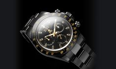 Bamford Watch Department – Customised Luxury Watches – Black Rolex MGTC – COLLABORATIONS