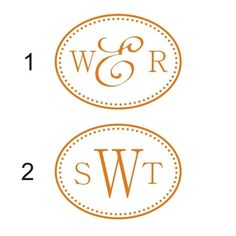 Polka Dot Oval Monogram Vinyl Wall Decal by back40life on Etsy, $30.00