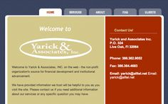 Yarick & Associates - My Grandfather commissioned this site to be done. I loved working on this corporate looking site.