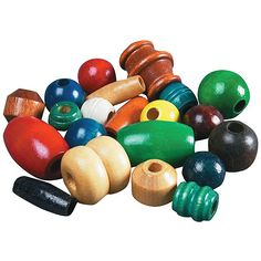 Painted Wooden Bead Mix 12 Lb Bag Wooden Beads