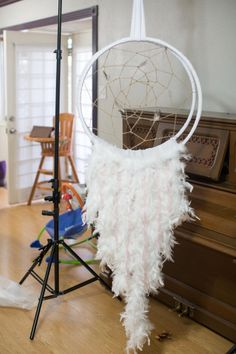 Newborn dreamcatcher prop tutorial made by San Angelo Newborn, Maternity, Child and Family Photographer, Deirdre Lewis, of Pictures of Prose.