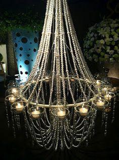 Lindo lustre de pérolas da decoradora Patricia Constancia. Amei!!!