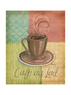 VINTAGE COFFEE ART PRINT Cup/'pa Joe Best in Town 12x12 Cafe Kitchen Poster