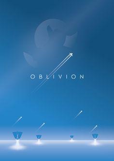 Oblivion_ClarenceJFChen_Behance Minimalist Movie Poster Design
