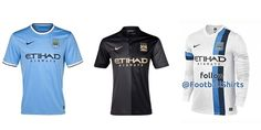 Manchester City - Home & Away & 3rd Kits.