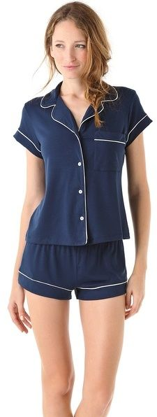 Eberjey Gisele PJ Set ~ is it bad that I only like these because they make me think of the fruits basket school uniforms..?