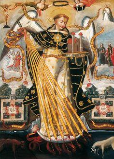Santo Tomas de Aquino, Protector de la Universidad de Cuzco  Museo de Arte de Lima, Perú. Siglo XVII