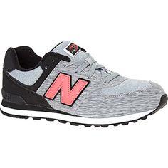 New Balance Grey & Black Space Dye 574 Running Trainers