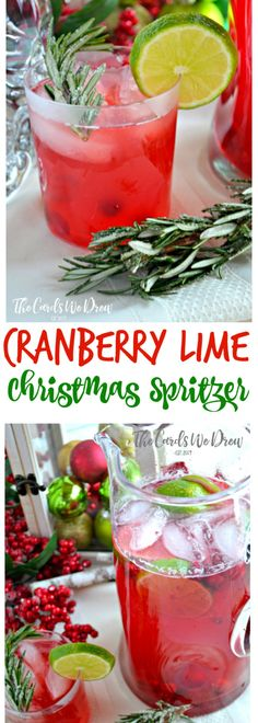 need a great Christmas drink? try this Cranberry Lime Christmas Spritzer (not for children).