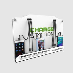 Wall mounted advertising charging station from Shenzhen Ztech