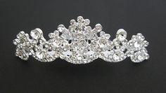 Rhinestone Tiara Hair Comb. Quinceanera Tiara Crown. Sweet 16 Tiara Crown. Bridal Crystal Silver Comb.Crystal Crown Comb.Bride Tiara Comb on Etsy, $22.00