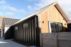 queenstown builder, architectural home nz, cedar, gable, wing walls,