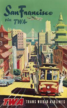 DESIGNER UNKNOWN SAN FRANCISCO VIA TWA. Circa 1950s
