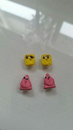 Spongebob Patrick, Clay Charms, Boards, Earrings, Accessories, Planks, Ear Rings, Stud Earrings, Ear Jewelry