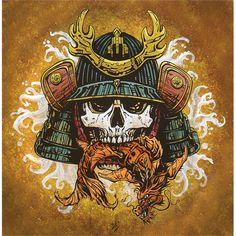 Fortuity by David Lozeau Skull Japanese Samurai Canvas Fine Art Print